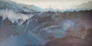 Blue Misty Mountain